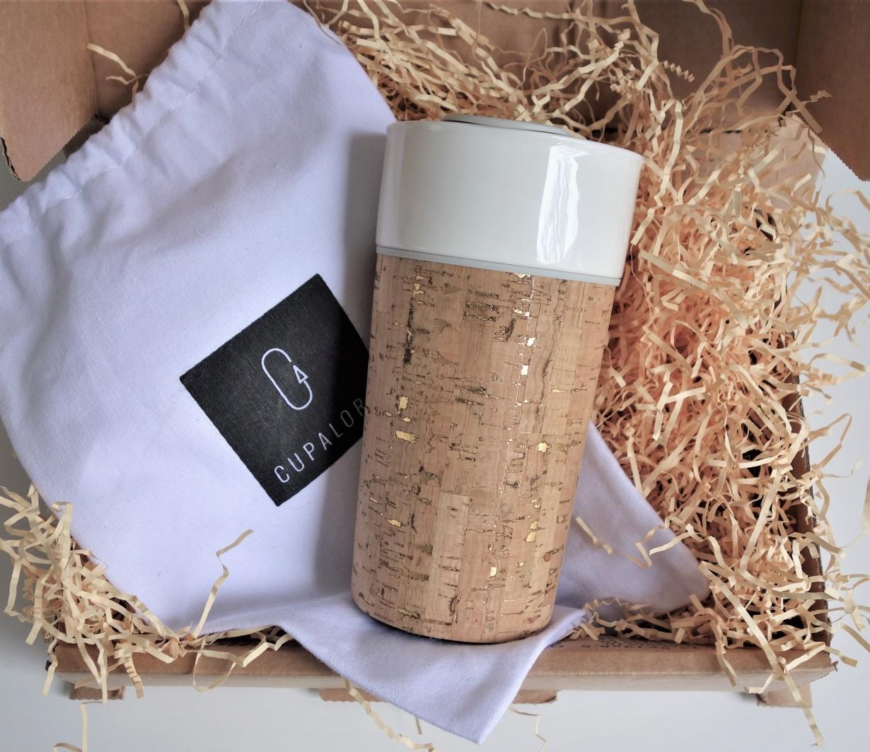 Gold flecked cork leather, Cuir de liège Naturel & Or